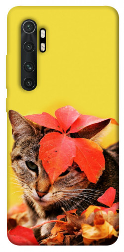 Чехол itsPrint Осенний котик для Xiaomi Mi Note 10 Lite