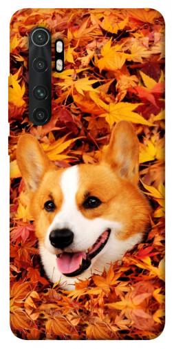 Чехол itsPrint Корги в листьях для Xiaomi Mi Note 10 Lite