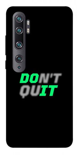 Чехол itsPrint Don't quit для Xiaomi Mi CC9 Pro