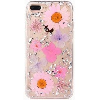 "TPU чехол ""Flowers and tinsel "" для Apple iPhone 7 plus / 8 plus (5.5"")"