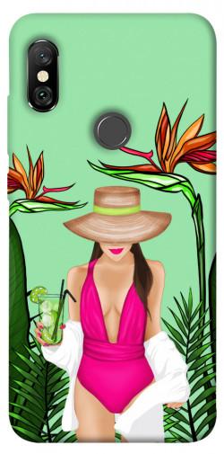 Чехол itsPrint Tropical girl для Xiaomi Redmi Note 6 Pro