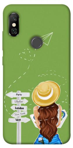 Чехол itsPrint Travel girl для Xiaomi Redmi Note 6 Pro