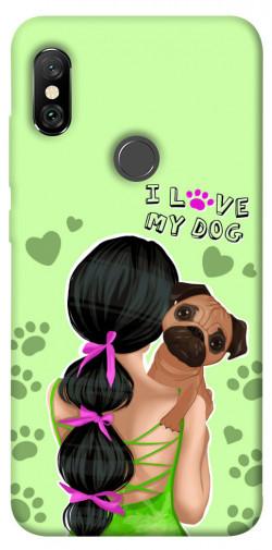 Чехол itsPrint Love my dog для Xiaomi Redmi Note 6 Pro
