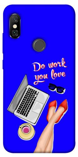 Чехол itsPrint Do work you love для Xiaomi Redmi Note 6 Pro