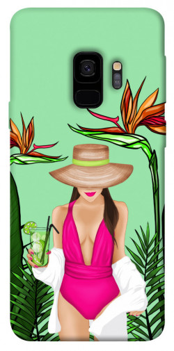 Чехол itsPrint Tropical girl для Samsung Galaxy S9