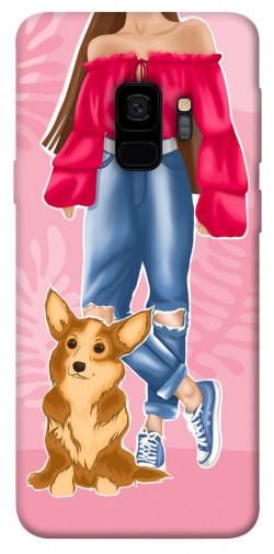 Чехол itsPrint Girl and corgi для Samsung Galaxy S9