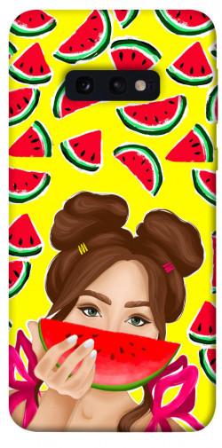 Чехол itsPrint Watermelon girl для Samsung Galaxy S10e
