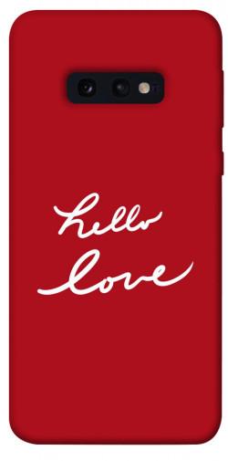 Чехол iPrint Hello love для Samsung Galaxy S10e