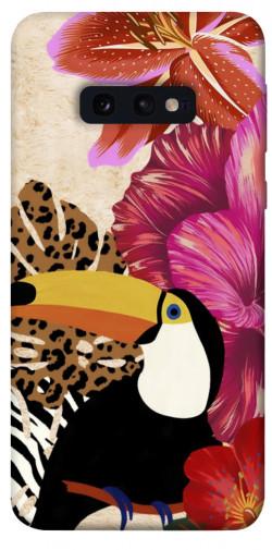 Чехол itsPrint Тукан среди цветов для Samsung Galaxy S10e