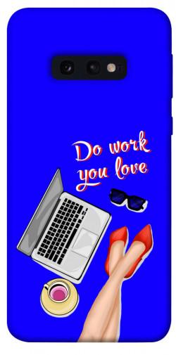 Чехол itsPrint Do work you love для Samsung Galaxy S10e