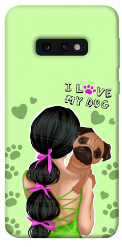 Чехол itsPrint Love my dog для Samsung Galaxy S10e