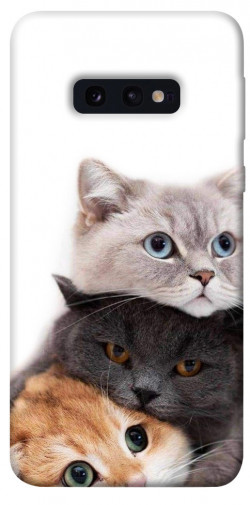 Чехол itsPrint Три кота для Samsung Galaxy S10e