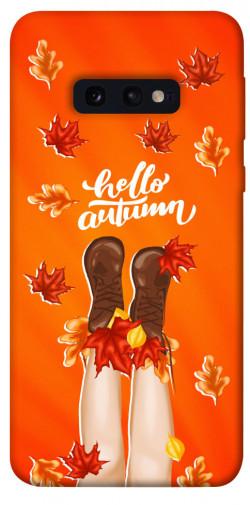 Чехол itsPrint Hello autumn для Samsung Galaxy S10e