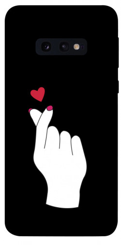 Чехол iPrint Сердце в руке для Samsung Galaxy S10e