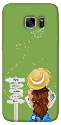 Чехол itsPrint Travel girl для Samsung G935F Galaxy S7 Edge