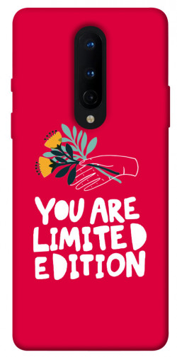 Чехол iPrint You are limited edition для OnePlus 8