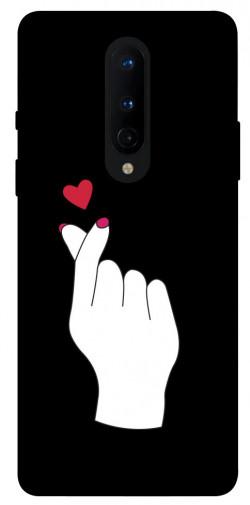 Чехол iPrint Сердце в руке для OnePlus 8