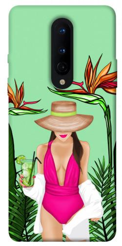 Чехол itsPrint Tropical girl для OnePlus 8