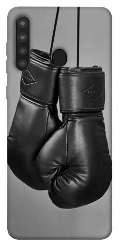 Чехол itsPrint Черные боксерские перчатки для Samsung Galaxy A21
