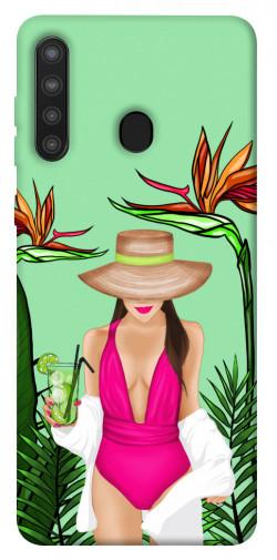 Чехол itsPrint Tropical girl для Samsung Galaxy A21