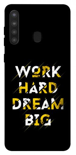 Чехол itsPrint Work hard для Samsung Galaxy A21
