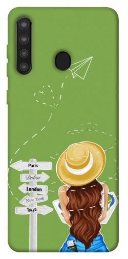 Чехол itsPrint Travel girl для Samsung Galaxy A21