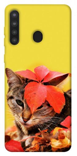 Чехол itsPrint Осенний котик для Samsung Galaxy A21