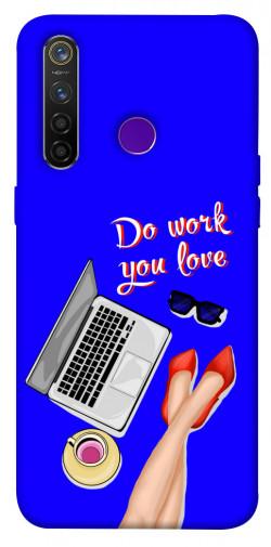 Чехол itsPrint Do work you love для Realme 5 Pro