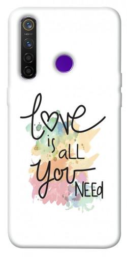 Чехол iPrint Love is all you need для Realme 5 Pro