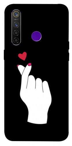 Чехол iPrint Сердце в руке для Realme 5 Pro