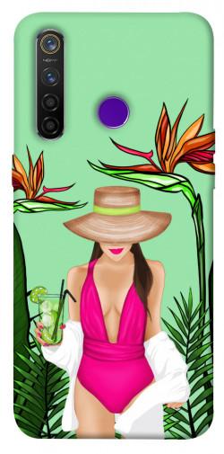 Чехол itsPrint Tropical girl для Realme 5 Pro