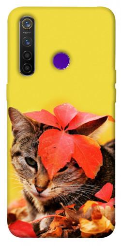 Чехол itsPrint Осенний котик для Realme 5 Pro