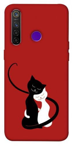 Чехол iPrint Влюбленные коты для Realme 5 Pro