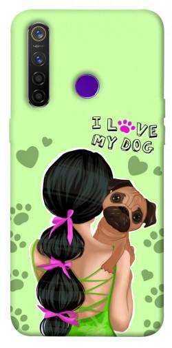 Чехол itsPrint Love my dog для Realme 5 Pro