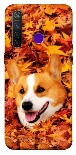 Чехол itsPrint Корги в листьях для Realme 5 Pro