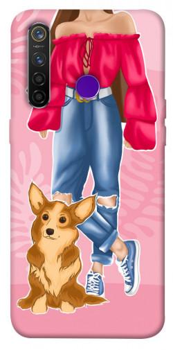 Чехол itsPrint Girl and corgi для Realme 5 Pro