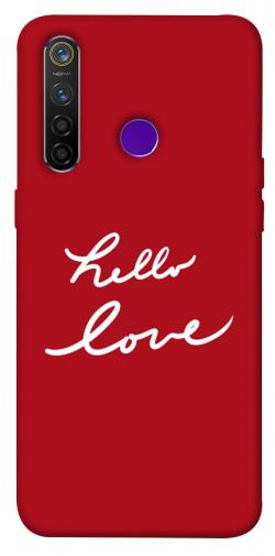 Чехол iPrint Hello love для Realme 5 Pro