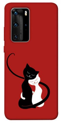 Чехол iPrint Влюбленные коты для Huawei P40 Pro