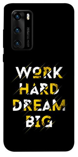 Чехол itsPrint Work hard для Huawei P40