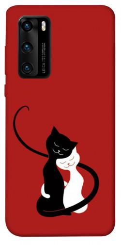 Чехол iPrint Влюбленные коты для Huawei P40