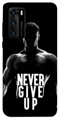 Чехол itsPrint Never give up для Huawei P40