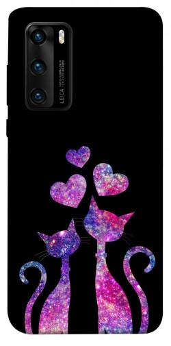 Чехол iPrint Космические коты для Huawei P40