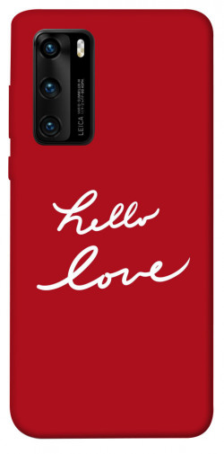 Чехол iPrint Hello love для Huawei P40