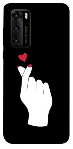 Чехол iPrint Сердце в руке для Huawei P40