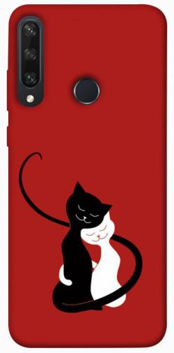 Чехол iPrint Влюбленные коты для Huawei Y6p