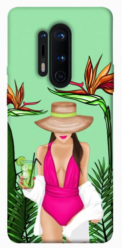 Чехол itsPrint Tropical girl для OnePlus 8 Pro