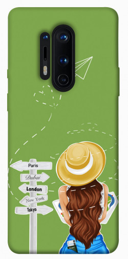 Чехол itsPrint Travel girl для OnePlus 8 Pro