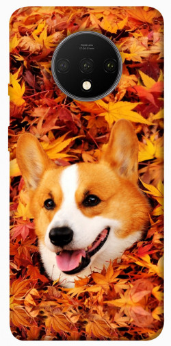 Чехол itsPrint Корги в листьях для OnePlus 7T
