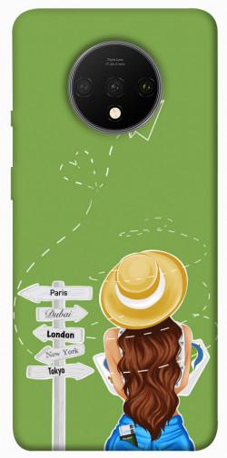 Чехол itsPrint Travel girl для OnePlus 7T
