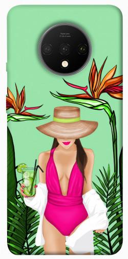 Чехол itsPrint Tropical girl для OnePlus 7T